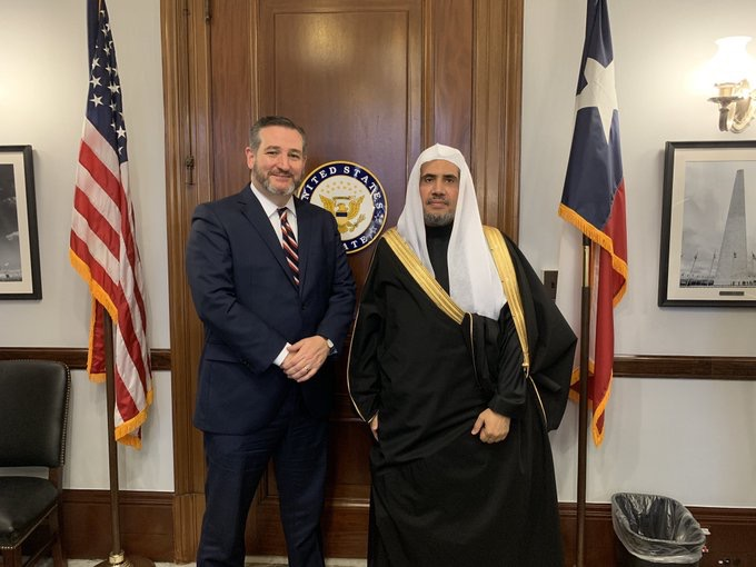 HE Dr. Alissa meets Senator TedCruz, the former US presidential candidate
