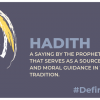 Hadith serves as a source for spiritual & moral guidance in the Islamic tradition