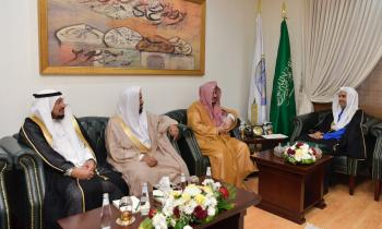 HE Dr. Mohammad Alissa receives the delegation of the Supervisory Board of the Islamic Research Magazine led by HE Dr. Almajed
