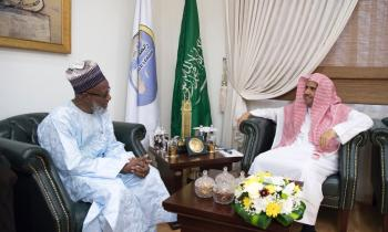 Dr. Mohamed Alissa receives His eminence Cameroon's Grand Mufti Sheikh Mahmoud Bakari