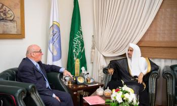 The SG of the MWL receives the Honorable Ambassador Dr. Veniamin Popov, Coordinator of the Russia-Islamic World Strategic Vision Group